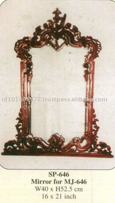 Mirror For MJ - 646 Mahogany Indoor Furniture
