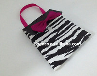 Kymco Zebra Pattern Gift Cards Paper Bag Holder With Handle