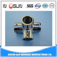 high quality stainless steel 304 4 way pipe connector