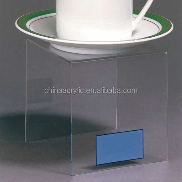 Transparent acrylic table holder / acrylic display stand for shop