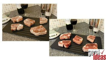 Thaw Easy Defrost Tray (881) Defrost food safely in minutes.