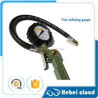digital air pressure tire inflator gauge with chuck
