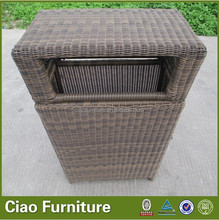 Rattan rubbish chute outdoor rubbish bin