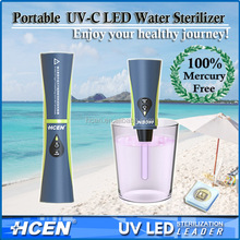 Outdoor personal water purifier uv led water purification straw