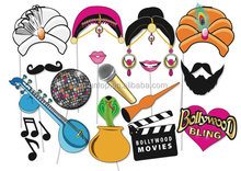 Bollywood Party Photo booth Props Set - 16 Piece PRINTABLE - Fun Bollywood Indian engagement party
