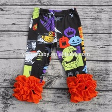 2016 New baby icing printed leggings Kids triple ruffle leggings] design for baby