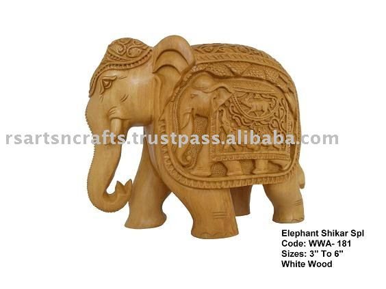 Elephant Wooden carving