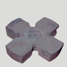 high manganese steel material casting process ore mining /coal crusher hammer parts