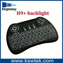 2016 New Arriving Wholesale USB Wirelesss Keyboard H9 for Computer Android Tv Box