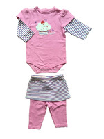 boutique baby clothing set,cotton Baby Clothes,patched Baby Clothing Set,