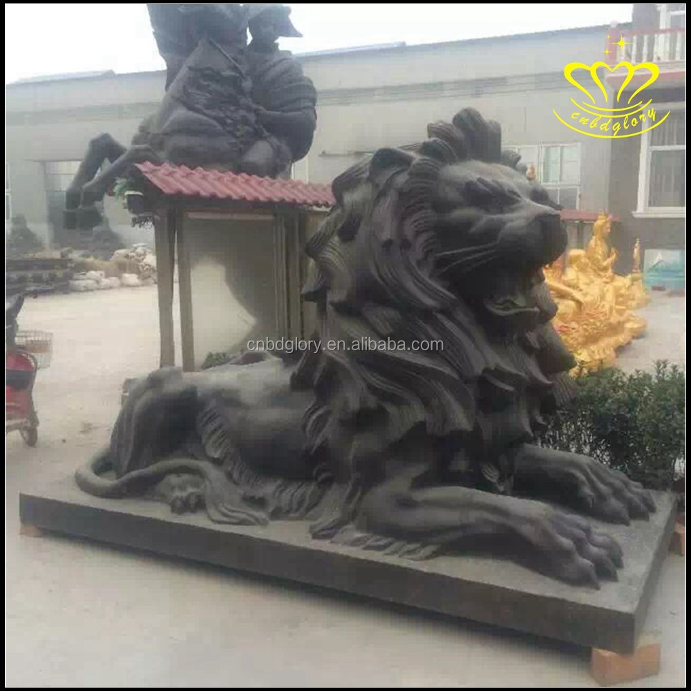 Promotional hot casting brass lion Abstract statues for sale