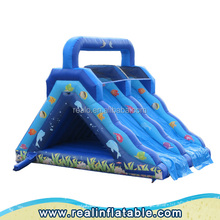 Sea world theme inflatable water slide for kids and adults , water park slides for sale,cheap inflatable water slides