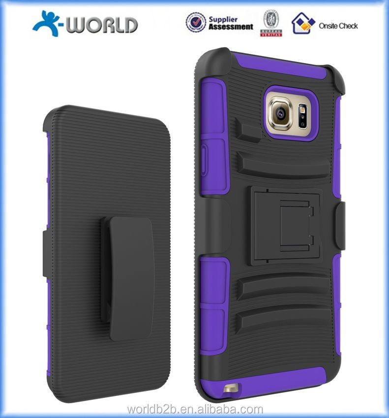 High Impact Resistant Holster Belt Clip Full Body Case for Samsung Galaxy note 5