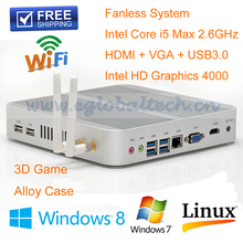 High Quality Fast Speed Computers mini pc windows10 system Intel Core I5 4200U Dual Nic Gaming PC 16G Ram 256G SSD WIFI+BT