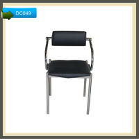 chrome legs leather metal sectional high quality solid wood dining chair
