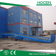 Warehouse Trailers Portable Bridges Mobile Manual Lifting Hydraulic Container Loading Platform For Forklift