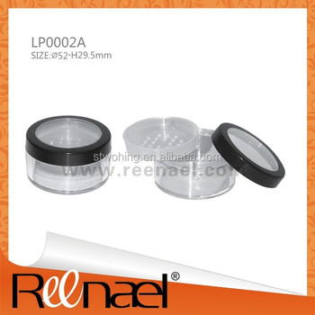 Cosmetic packaging press powder container