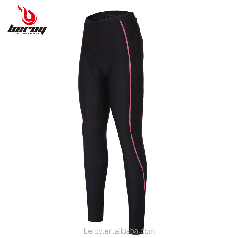 BEROY super wicking breathable cycling trousers,women gel pad cycling tights with one pocket