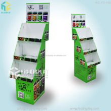 3 tiers paper nuts display rack for supermarket promotion