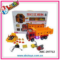 Newest light up musical touch story toy remote control truck with batter and charger
