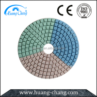 Huangchang 3 color wet polishing pad for Granite or Marble