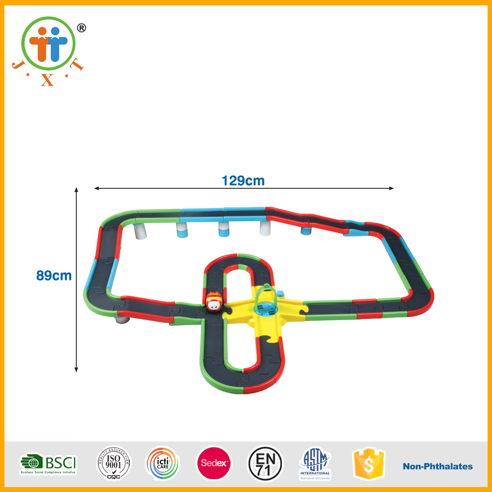 China wholesale kid toy electronic slot car racing with music and light