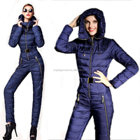 new premium apparel & fashion jackets sports warm down women one piece jumpsuit ski suit