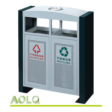 Garbage receptacle color coding, ads solar refuse collector, eco durable trash compactor