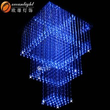 stair crystal fiber optic light ,fiber optic mesh lighting OM172