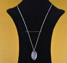 Best Selling Metal Leaf Pendant Charms Necklace Long Chain Necklace