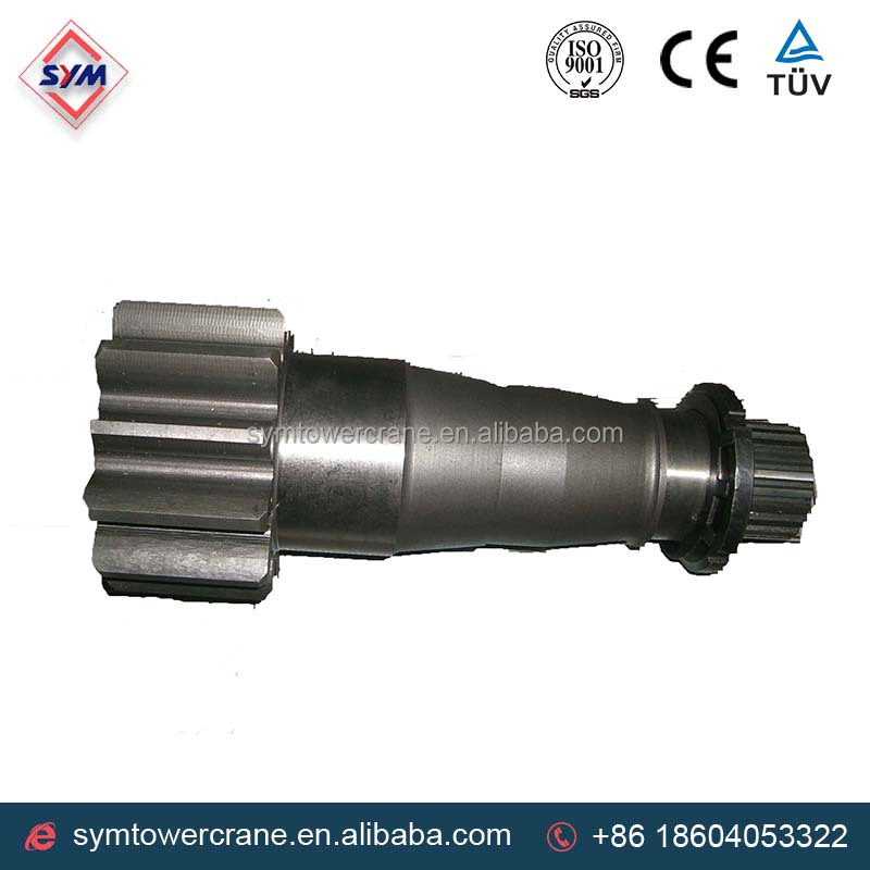 gear shaft zoom line tower crane parts