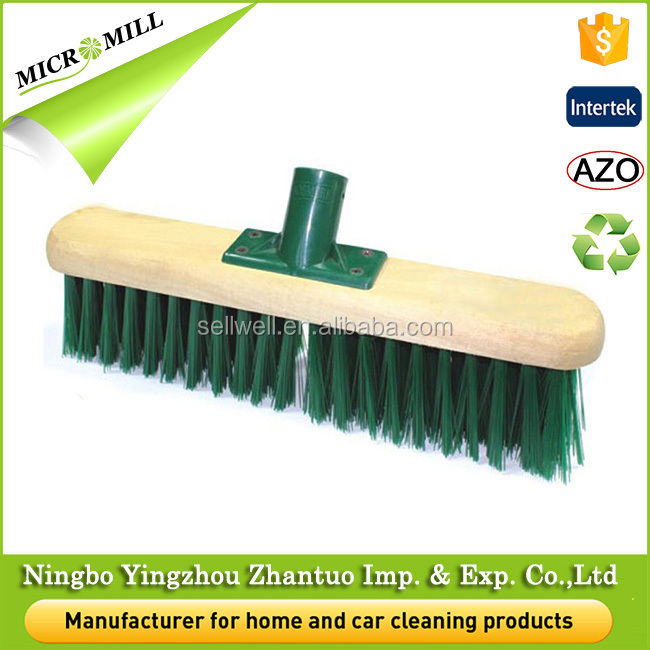 Cleaning floor soft bristle broom head