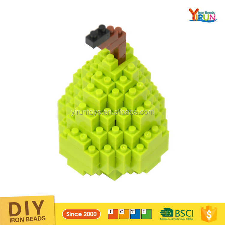 alibaba gold supplier promotional toys hot sale kids toys plastic fruit series gift box nano block brick toys