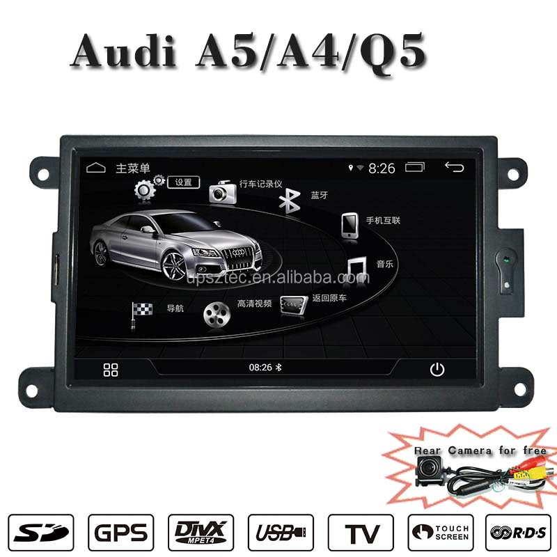 UPsztec Android Car Radio Car DVD Player for Audi A5,A4,Q5(2009-2015) with GPS Built in Bluetooth TV BT DVR IPOD 1080P 3G WIFI