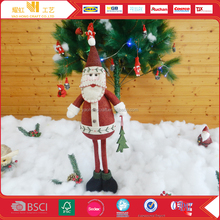 Christmas decorative hanging snowman and santa claus dolls