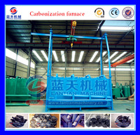 Trade Assurance Wood Log Carbonization Furnace/sawdust Briquette Carbonize Stove/bamboo Charcoal Carboning