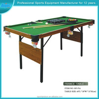 Model#HPP16 simple folding portable pool table guangzhou