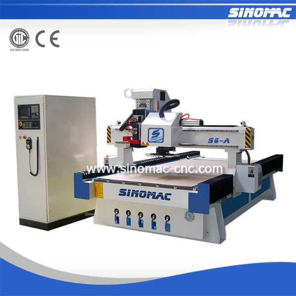 Wood Carving CNC Router S6-A-1325-ATC mdf board cutting machine