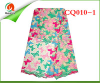 Colorful african cord lace latest 2015 high quality african lace embroidery fabric tulle cord lace CQ010-1