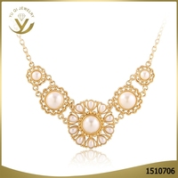 Top Quatity Fashion Statement Pearl Necklace For Women Pendant Necklace Colar Necklace