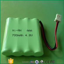 Cheaper price ni-mh aaa 700mah 4.8v battery pack rechargeable for Solar light
