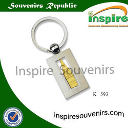 Rectangle metal keychains with spinner