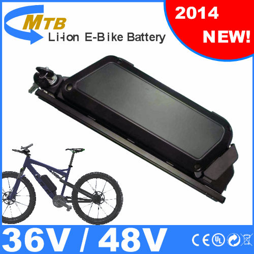 China manufacturer Downtube mounted pvc case e bike battery 36V/13Ah lithium battery pack