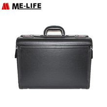 Portable carry-on leather laptop suitcases travel luggage bag trolley case