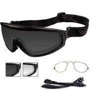 CQC 491Rx Smoke/clear lenses with black frame