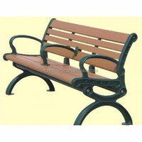 composite wood modern advertising park benches antique park benches backless park bench