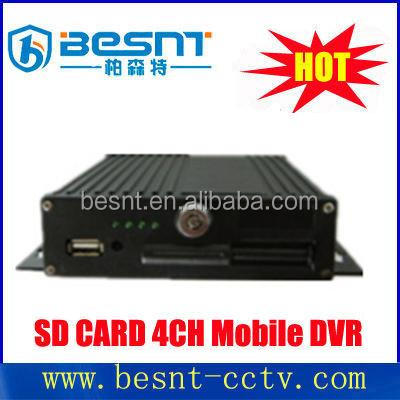 BESNT SD card h.264 car mdvr 4 channel mobile dvr for public bus BS-J04A
