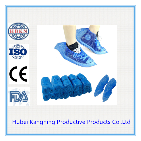 Blue Disposable Plastic Anti Slip Shoe Covers Cleaning Overshoes Protective Home