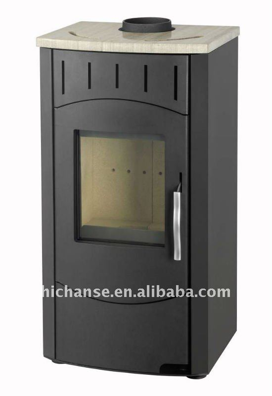 Wood Fireplace WSD-D09 with 8.5KW, double wall steel firebox and CE certificate