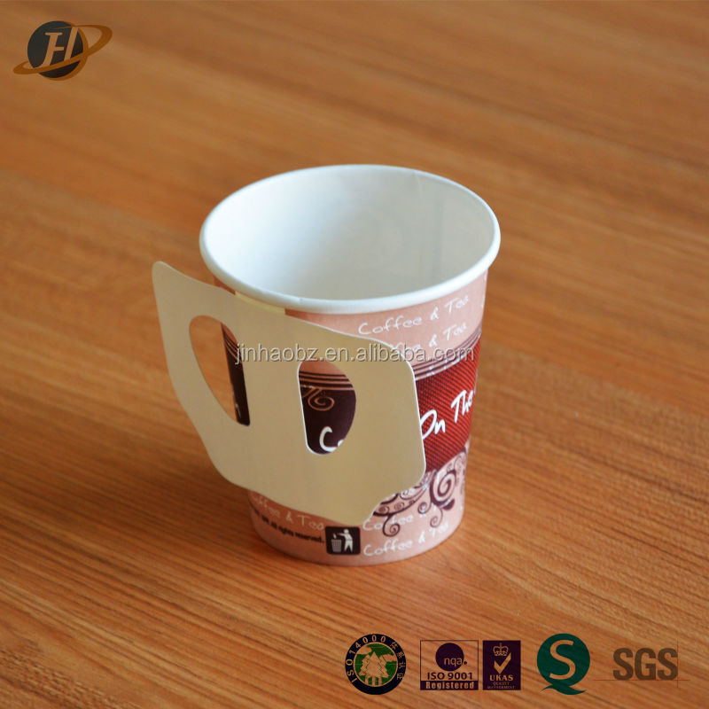 Wholesale 7oz disposable paper coffee cups with handles with high quality